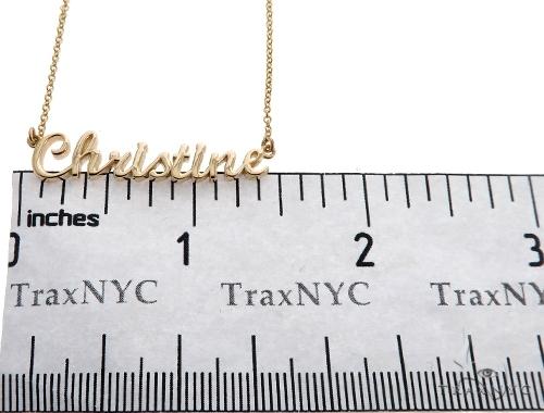 Custom Gold Name Pendant (Small)