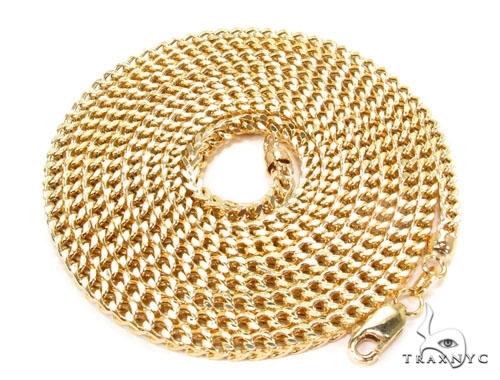 Custom Yellow Gold Semi-Hollow Franco Chain