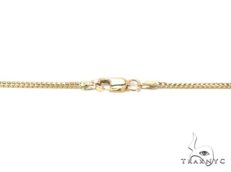 Custom Yellow Gold Solid Franco Chain
