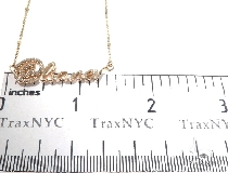Custom Diamond @name Gold Pendant (Small)