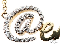 Custom Diamond @name Gold Pendant (Medium)