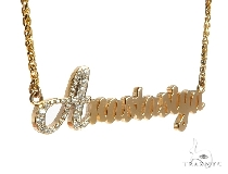Custom Diamond Name Pendant (Small)