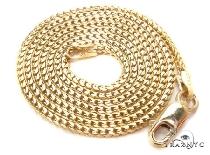 Custom Yellow Gold Solid Franco Chain