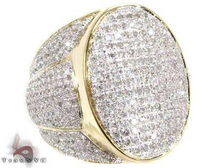 14K Gold Missile Ring Stone