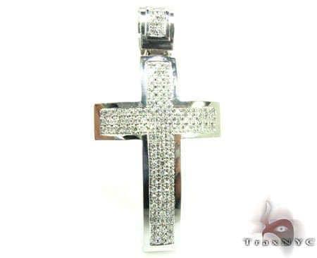 3 Row Cross Crucifix Diamond
