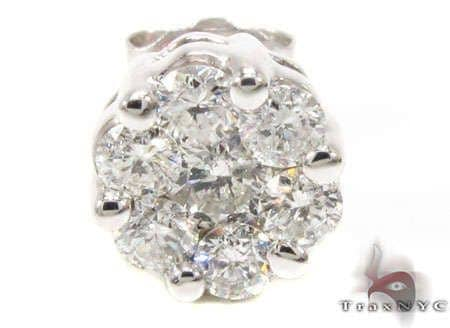 14K White Gold Single Stud Style