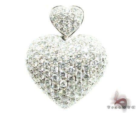 Tiny Heiress Heart Pendant Stone