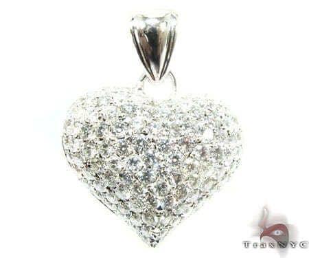 Tiny Heiress Heart Pendant 2 Stone