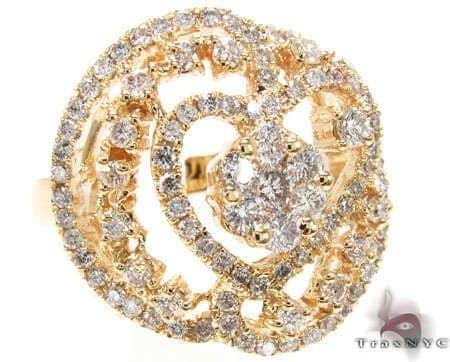 YG Heart Cluster Ring Anniversary/Fashion