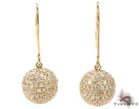 Ladies Sphere Earrings 2 Stone