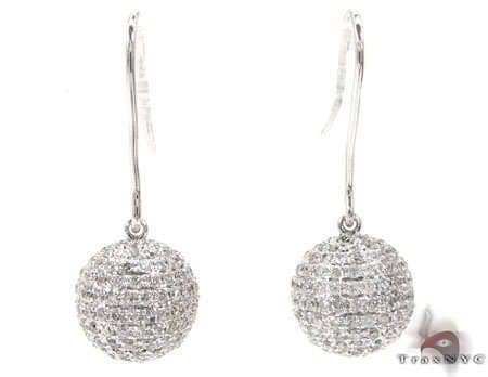 Ladies Sphere Earrings Stone