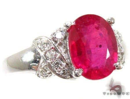 Ruby Criss Cross Crucifix Ring Anniversary/Fashion