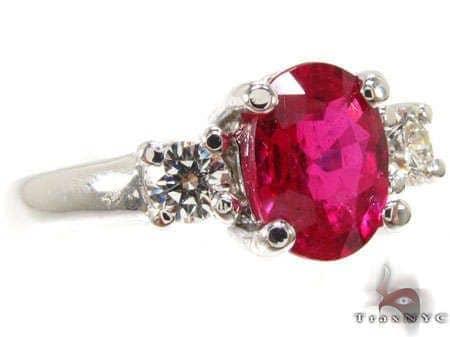 oval cut Ruby & diamond Ring Anniversary/Fashion