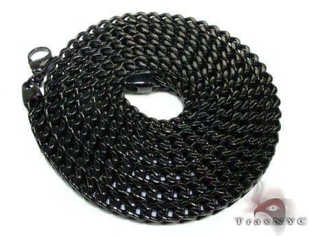 Black Stainless Steel Chain 40 Inches, 6mm, 130 Grams Stainless Steel