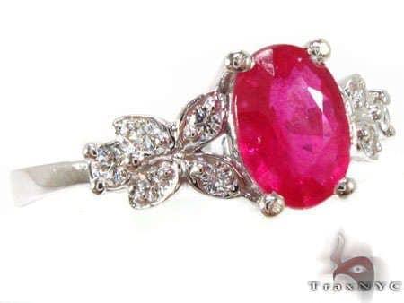 Ruby Leaf Ring Anniversary/Fashion