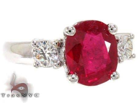 Ruby & Diamond Ring 12853 Anniversary/Fashion