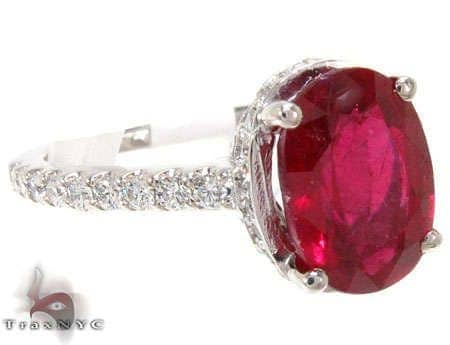 Ruby Lollipop Ring Anniversary/Fashion