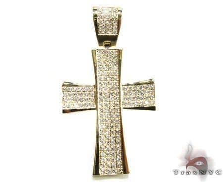 YG 4 Row San Paulo Cross Diamond