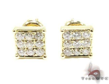 YG Mini 3 Row Earrings Stone