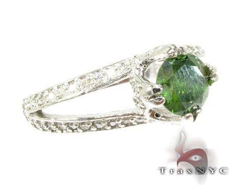 Diamante Green Diamond Ring Anniversary/Fashion