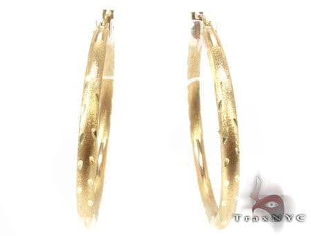 Golden Riffle Hoops Metal
