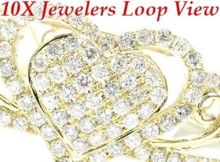 YG Flowers & Hearts Bracelet Diamond