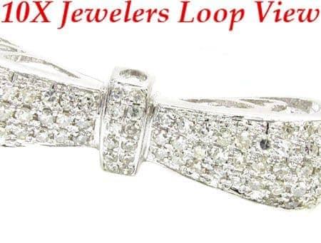 Bow Bangle Bracelet Diamond