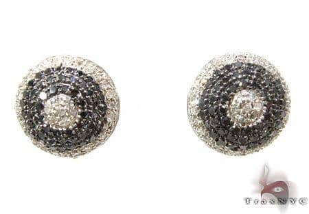Diamond Beehive Earrings 2 Stone