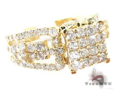 Ladies Yellow Grill Ring 2 Engagement