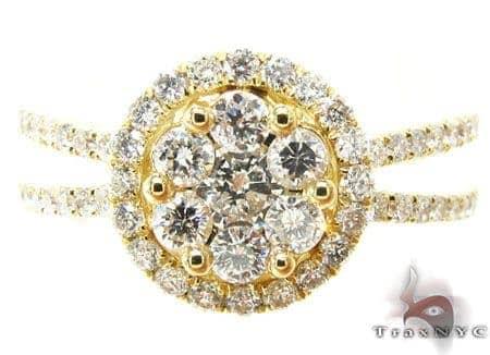 YG Crown Ring Engagement