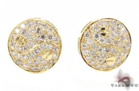 YG Yin & Yang Earrings Stone