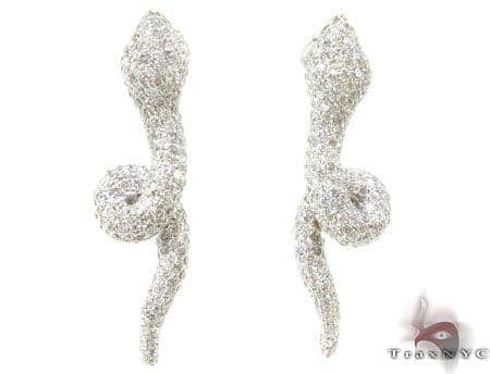 WG Serpent Earrings Stone