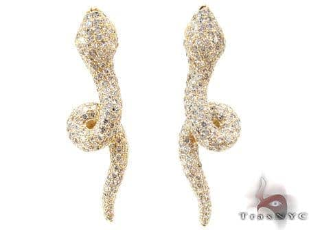YG Serpent Earrings Stone