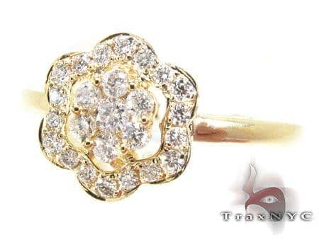 YG Precious Flower Diamond Ring Anniversary/Fashion