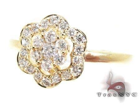 YG Precious Flower Diamond Ring Anniversary/Fashion
