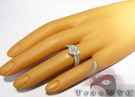 Ladies Baguette Heart Ring Anniversary/Fashion