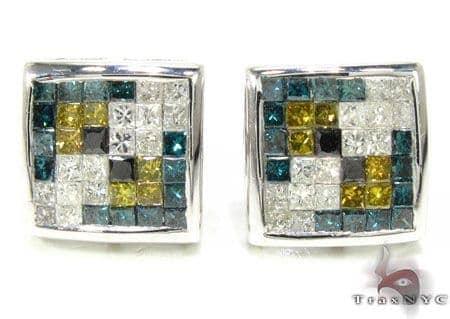 Quad Color Princess Earrings Stone