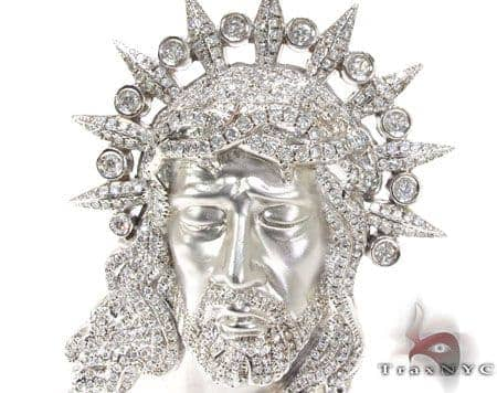XL Jesus Head Pendant Metal
