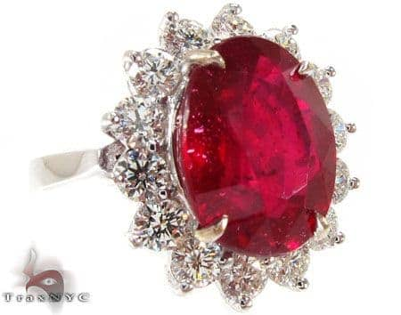 Ruby Flower Ring 4 Anniversary/Fashion