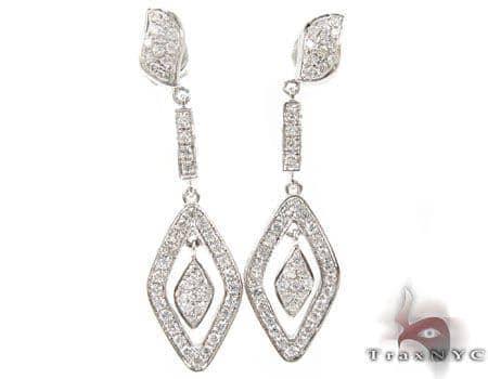 Icy Leaf Earrings Stone