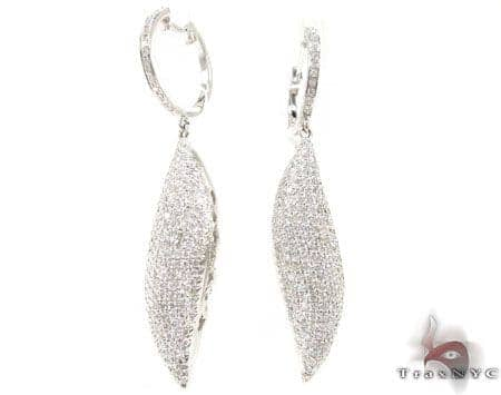 Pave Leaf Earrings 2 Stone