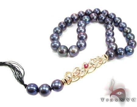Dark Pearl Rosary Hip Hop Chains