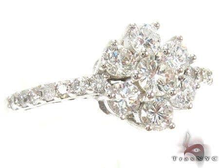 Sunflower Diamond Ring 17034 Engagement