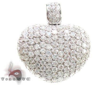 Diamond Heart of Gold Pendant Stone