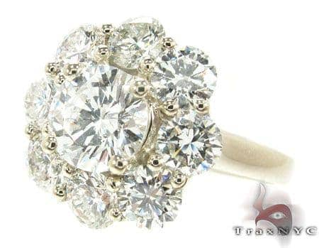 Diamond Flower Ring Engagement