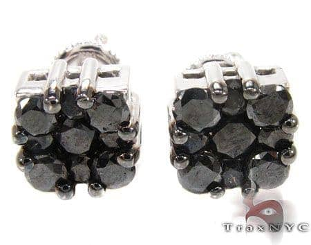 Black Berry Cluster Earrings 3 17327 Stone