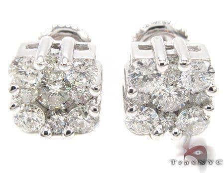Flower Cluster Earrings 2 Stone