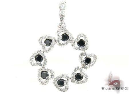 Aura Black & White Diamond Pendant 2 Stone