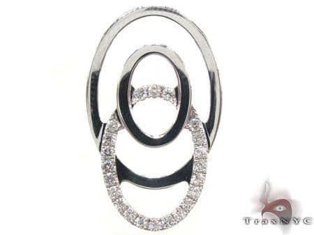 Diamond Bullseye Pendant Stone