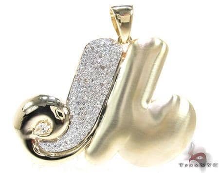 Diamond Initial M Pendant 17775 Metal